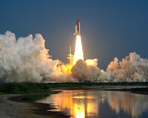 Shuttle launch at Cape Canaveral